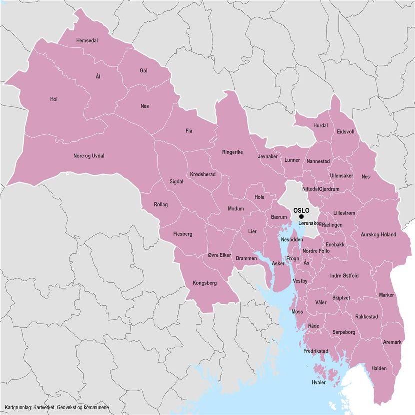Viken - nye kommuner