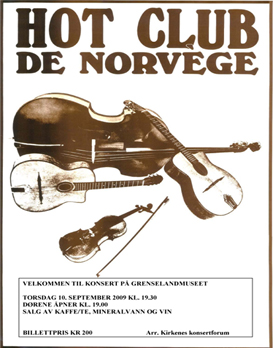 PLAKAT Hot Club de Norv&egrave;ge