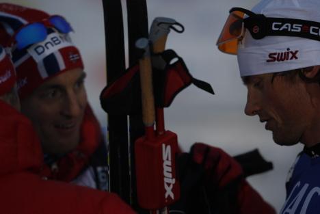 Morten Aa Djupvik til venstre og Petter Northug.