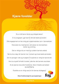 Bilde av foreldreplakaten, en A4-side som kan lastes ned