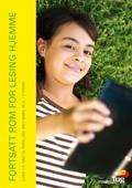 Bilde av ei jente som ligger i gresset og leser ei bok. Dette er forsiden av Fortsatt rom for lesing hjemme med råd og ideer til foreldre med barn på 5. - 7. trinn.