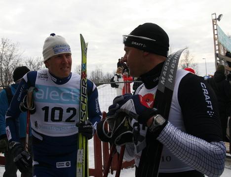 Lassi Koronen og Olaf Tufte, Vasaloppet 2010.