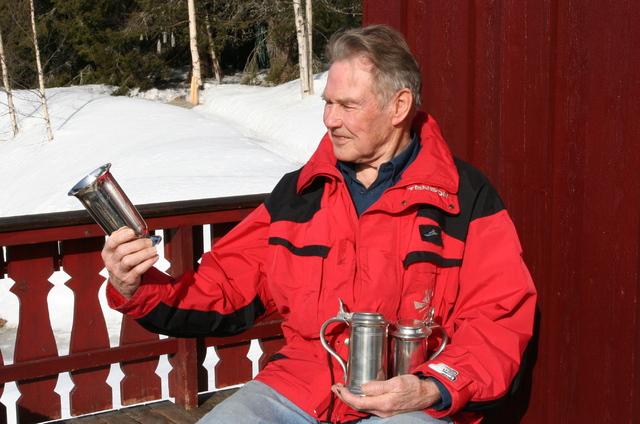 Johan Østvang har flest merker i ski-Birken, 55 merker, på delt førsteplass med Fredrik Lütken. Han vant også totalt i 1954, ble norsk mester på 15-kilometer i 1954 og deltok i VM det året. Foto: Ola Jordheim Halvorsen.