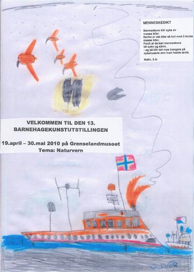 Plakat Barnehagekunstutstillinga  2010