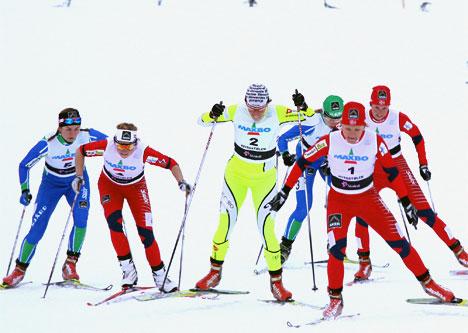 Beitostølen. Sprintfinale damer. Foto: Geir Nilsen/Langrenn.com.