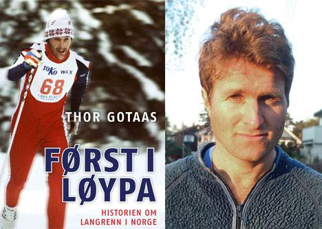 Først i løypa. Bok av Thor Gotaas.