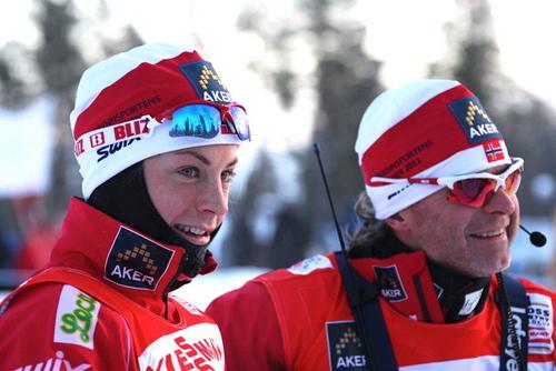 Astrid Uhrenholdt Jacobsen og Åge Skinstad.