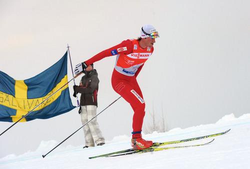 Petter Northug i monsterbakken i Val di Fiemme og Tour de Ski i 2010. Foto: Felgenhauer/NordicFocus.