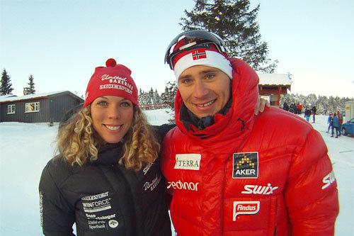 Sandra Hansson og Ola Vigen Hattestad, Romjulsrennet på Sjusjøen 2010. Foto: Harald Fladseth.