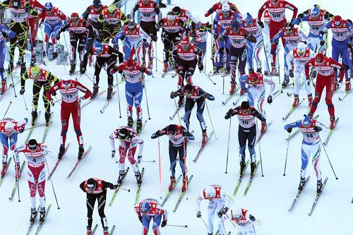 Tour de Ski, Oberstdorf 4. etappe fellesstart. Foto: Hemmersbach/NordicFocus.