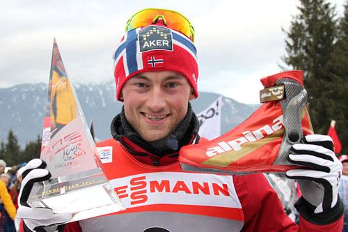 Petter Northug, Tour de Ski, 2. plass sammenlagt, Val di Fiemme 2011. Foto: Hemmersbach/NordicFocus.