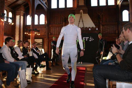 Jens Arne Svartedal på catwalken