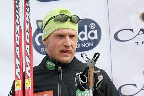 Jerry Ahrlin etter sin 2. plass i Marcialonga 2010. Foto: Hemmersbahc/NordicFocus.