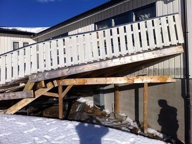 Klubbhus veranda ødelagt 1