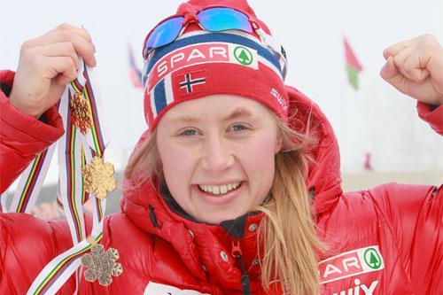 Ragnhild Haga, junior-VM Otepää 2011. Foto: Erik Borg.