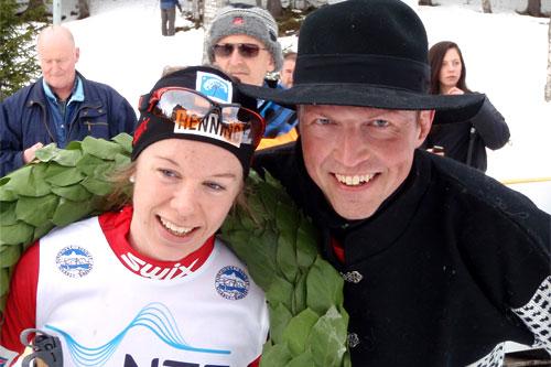 Marte Elden og Frode Estil på Flyktningerennet 2011. Arrangørfoto.