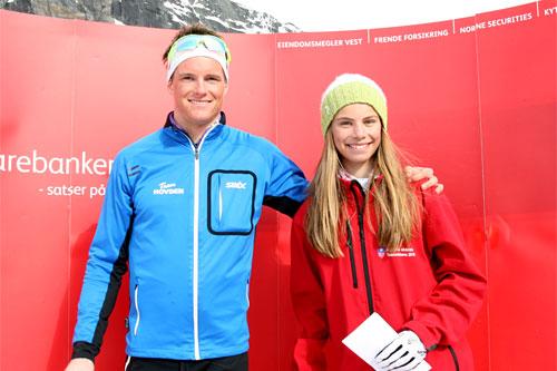 Torgeir Skare Thygesen fra da han og Kristin Helland-Hansen vant Røldal Ned og Opp tidligere i år. Foto: Hardanger Folkeblad.