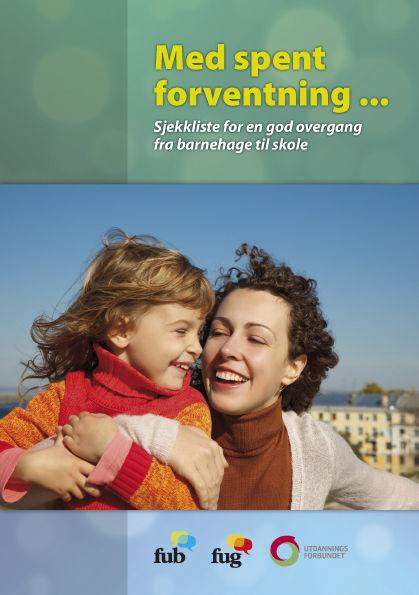 Brosjyre om overgangen mellom barnehage og skole, bilde av forsiden