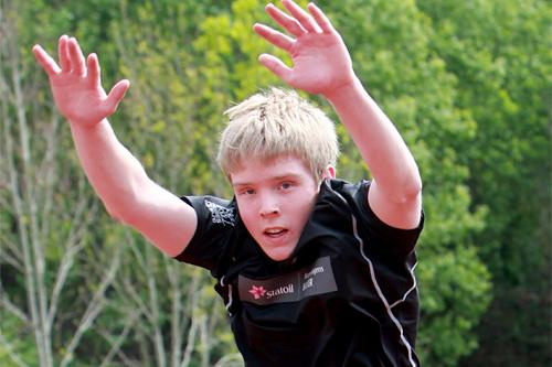 Eirik Bye på samling med Team Morgendagens helter, mai 2011. Foto: Erik Borg.
