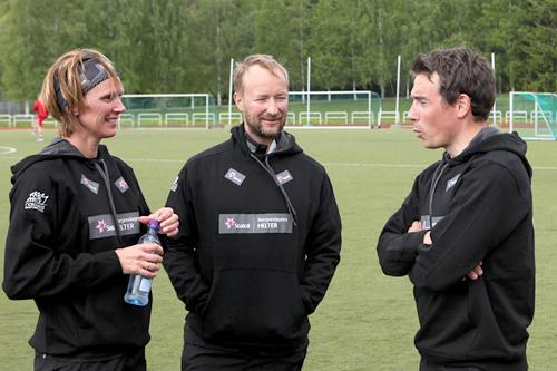 Bente Skari, Kjetil André Aamodt og Eldar Rønning er sentrale i Team Morgendagens Helter. Foto: Erik Borg.