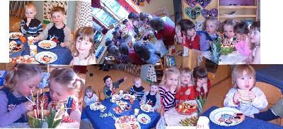 Miljø fra matbordet på Knaysen barnehage