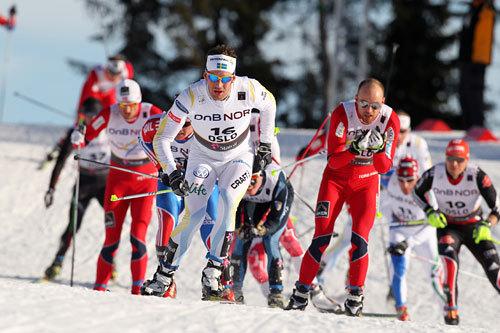 VM-femmila i Holmenkollen under Ski-VM i Oslo 2011. Foto: Hemmersbach/NordicFocus.