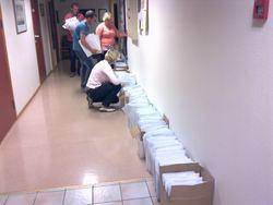 Pakking av valgmateriell