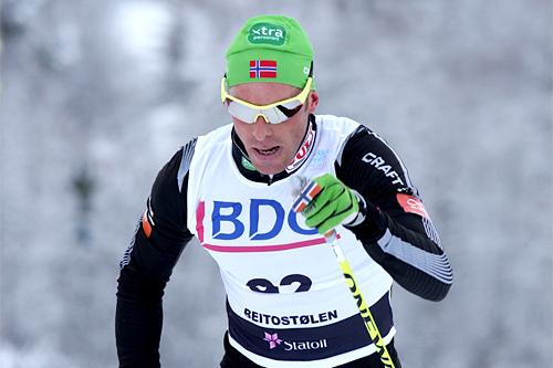 Anders Aukland under sesongåpningen på Beitostølen 2010. Foto: Geir Nilsen/Langrenn.com.
