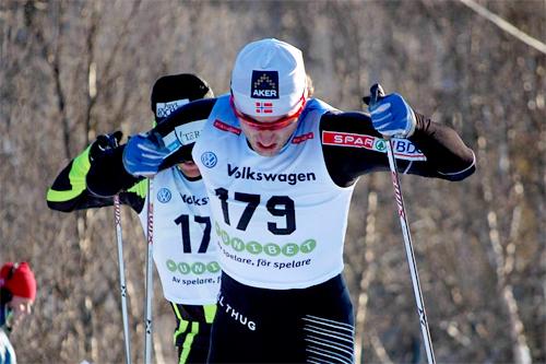 Petter Northug på vei mot 3. plass i den svenske sesongåpningen i Bruksvallarna 2011. Foto: www.erikwickstrom.se.