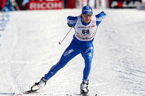 Eugeniy Dementiev på verdenscupen i Lahti 2009. Foto: Hemmersbach/NordicFocus.