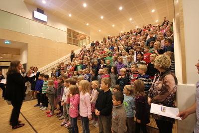 åpning nyskolen ingunn bye og barneskolen