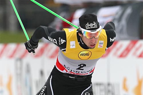 Eligius Tambornino i verdenscupen i Düsseldorf 2011. Foto: Hemmersbach/NordicFocus.