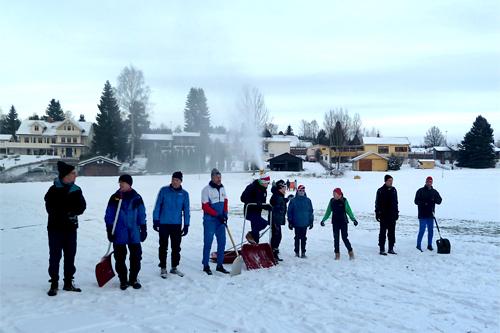 Hamar Skiklubb legger forholdene til rette for sprintrenn i Ankerskogen. Foto: Privat.