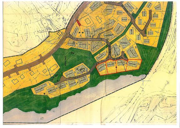Situasjonskart - Ledige kommunale tomter på Moi