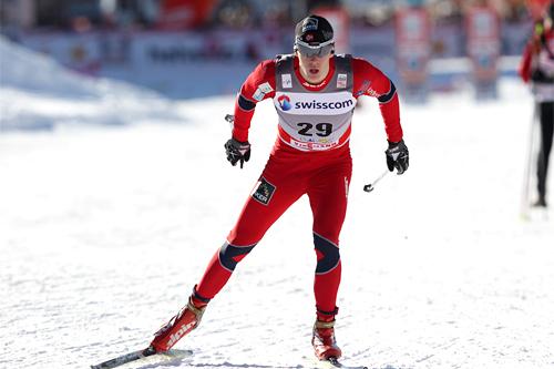Anders Gløersen på sprinten i verdenscuprunden i Davos 2011. Foto: Manzoni/NordicFocus.