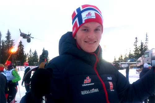 Andreas Molden på samling med NTG Lillehammer. Foto: Lydia Weydahl.