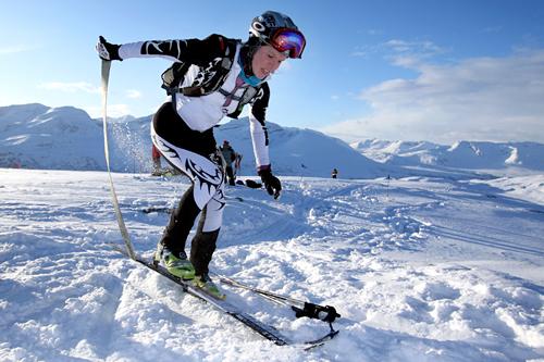 Marit Tveite Bystøl fra Voss vant norgescupen i Randonee sammenlagt for kvinner i 2011. Foto: Daniel Kvalvik.