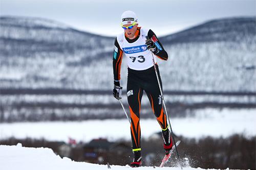 Ole-Marius Bach underveis på Tana-etappen av Tour de Barents 2011. Foto: Laiho/NordicFocus.