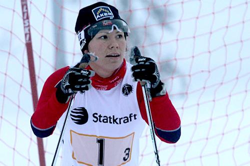 Mariann V. Marthinsen i forbindelse med verdenscupen for funskjonshemmede på Sjusjøen 2011. Foto: Claes-Tommy Herland.
