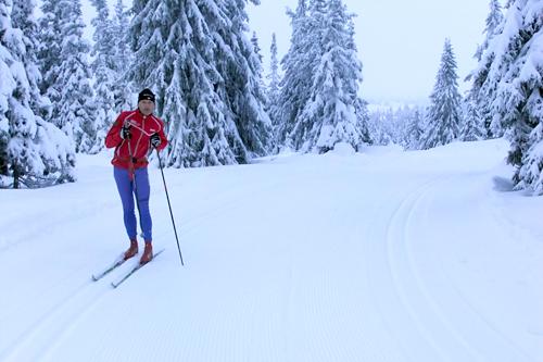 """Bilde tatt 17. desember 2011 og viser Johs. Hemma ved """"Kopnaglen"""", der løypa til Romjulsrennet Sjusjøen går. Foto: Jørn Hemma."""