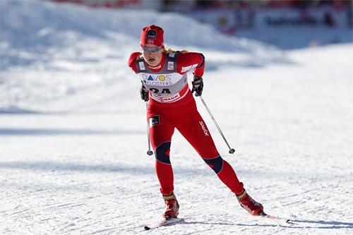 Mari Eide i verdenscupen i Davos 2011. Foto: Manzoni/NordicFocus.