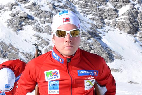 Eirik Lorentsen på samling i Ramsau med Team Trøndelag. Foto: Privat.