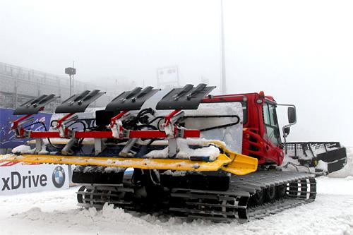 Løypemaskin i Oberhof i forbindelse med Tour de Ski 2011/2012. Foto: Hemmersbach/NordicFocus.