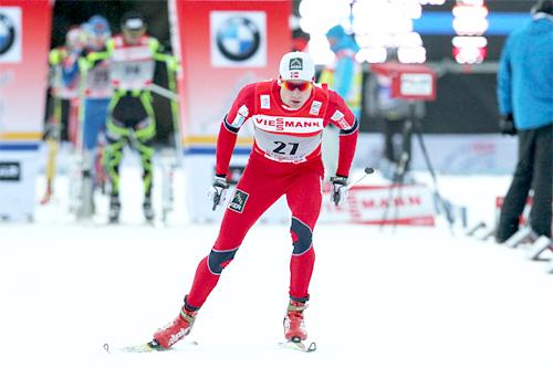 Niklas Dyrhaug under Tour de Ski 2011/2012, her under prologen i Oberhof. Foto: Hemmersbach/NordicFocus.