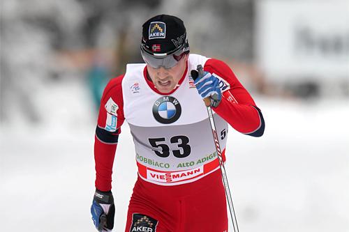 Eldar Rønning gikk et meget solid løp i Toblach på 5. etappe av Tour de Ski 2011/2012. Foto: Hemmersbach/NordicFocus.