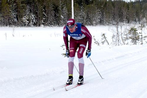Børre Næss på vei mot ny rekord i turrennet Tolvern ved Hønefoss 2012. Foto: Marte Trondsen.