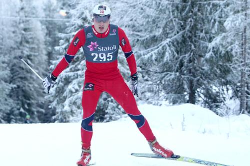 Finn Hågen Krogh ble nummer to og beste norske på det 15 kilometer lange fristilløpet på Nes i Akershus. Foto: Erik Borg.