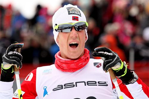Kristian Tettli Rennemo på NM i Voss 2012. Foto: Geir Nilsen/Langrenn.com.