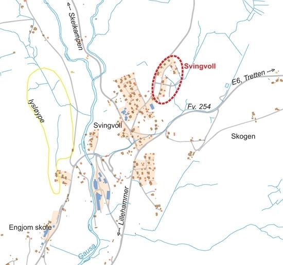 Oversiktskart Svingvoll
