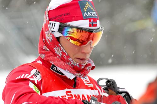 Marit Bjørgen forbereder seg til verdenscuprunden i Szklarska Poreba 2012. Foto: Hemmersbach/NordicFocus.